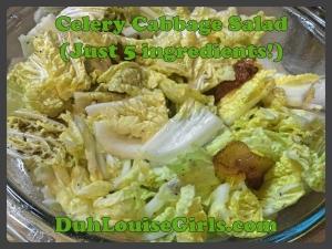 Celery Cabbage Salad